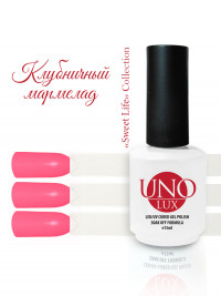 Uno Lux, Гель-лак №85 Strawberry Marmalade — «Клубничный мармелад» коллекции Sweet Life